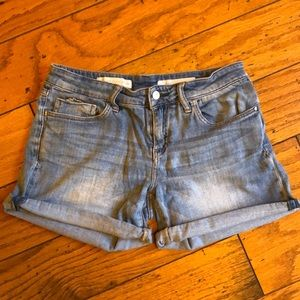 Pilcro Stet Roll-Up Jean Shorts